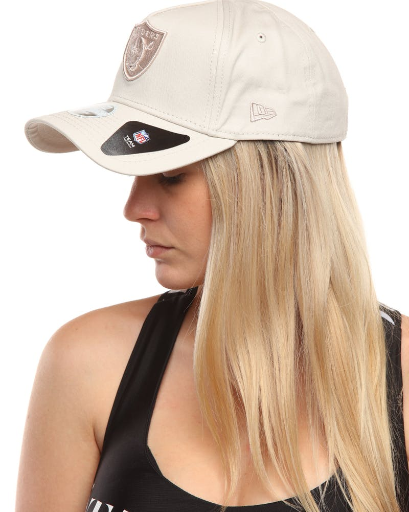 New Era Women's Raiders 9FORTY A-Frame Embroidered Strapback Stone
