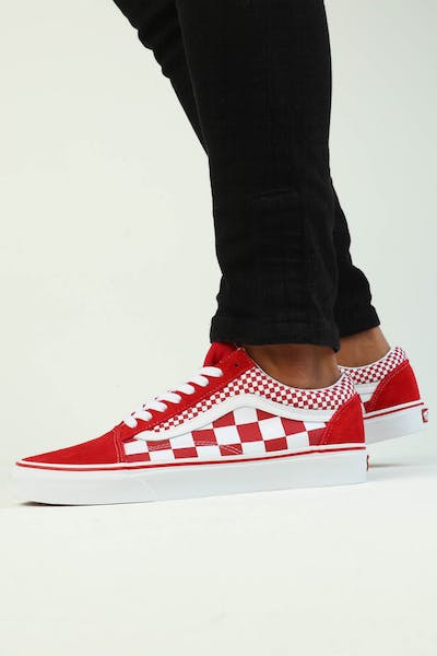 be3a55ad33 Vans Old Skool (Mix Checker) Red White