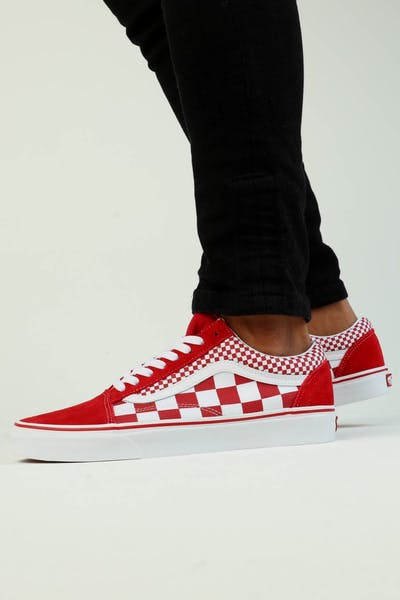 Vans Old Skool (Mix Checker) Red White 70b6b3515