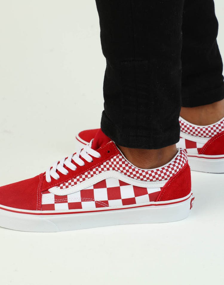 235e947a79 Vans Old Skool (Mix Checker) Red White – Culture Kings