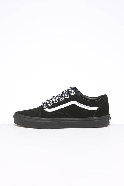 Vans Women's Old Skool Check Lace Black/Black