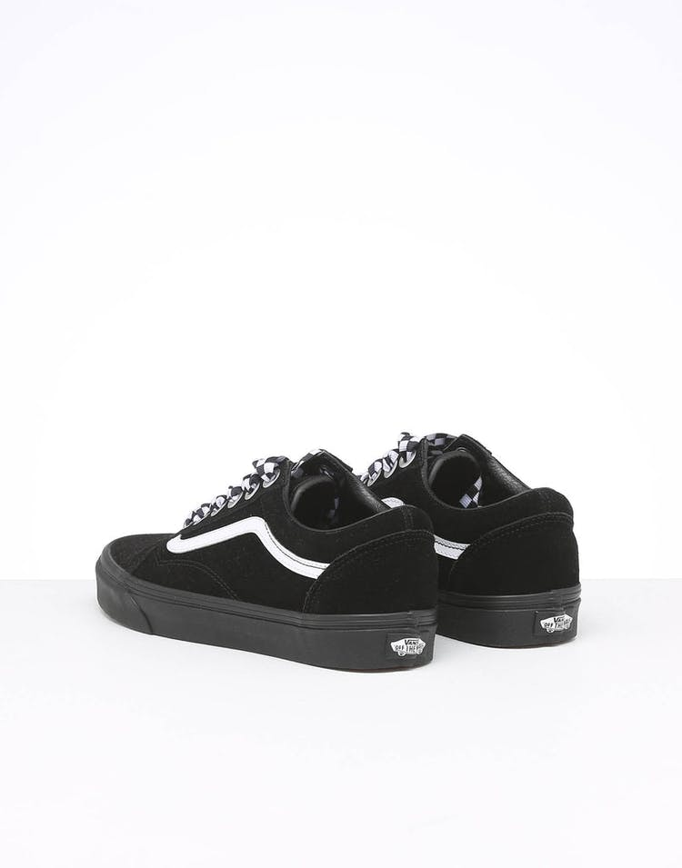 elegant and graceful boy great discount sale Vans Women's Old Skool Check Lace Black/Black