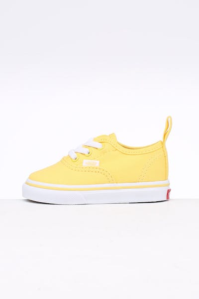 Vans Toddler Authentic (Elastic) Yellow/White