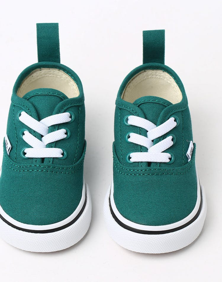 Vans Toddler Authentic (Elastic) Green/White