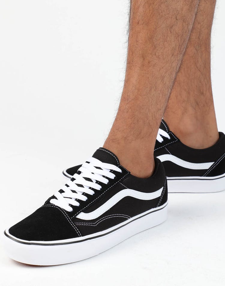 dcbe08d5a6 Vans ComfyCush Old Skool Black White – Culture Kings
