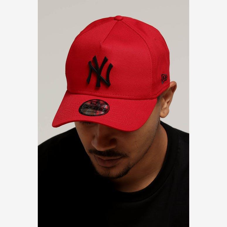 New Era New York Yankees 9FORTY A-Frame Metal Badge Snapback Scarlet B –  Culture Kings 9b0df76ec5a3