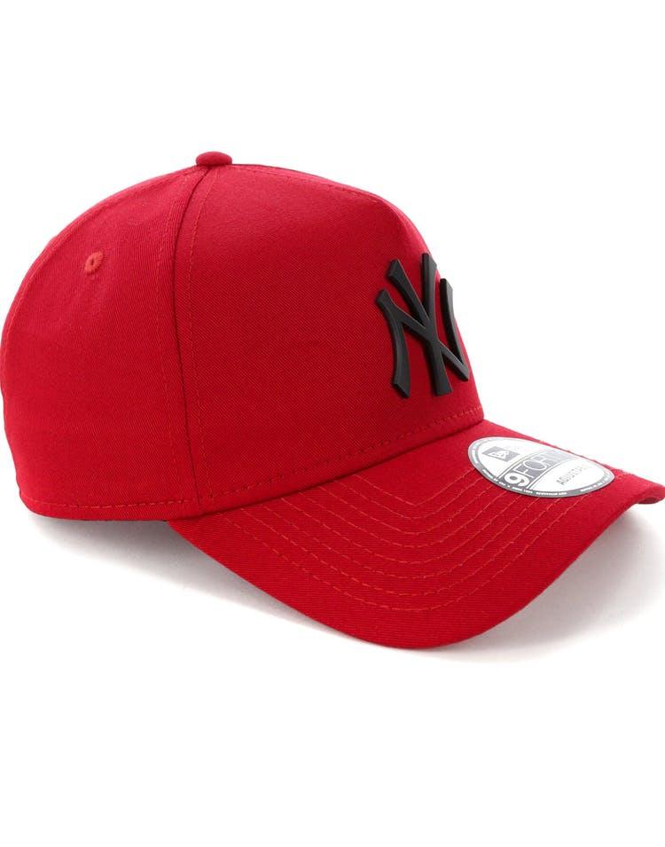 e3db68a24e6f5 New Era New York Yankees 9FORTY A-Frame Metal Badge Snapback Scarlet Black