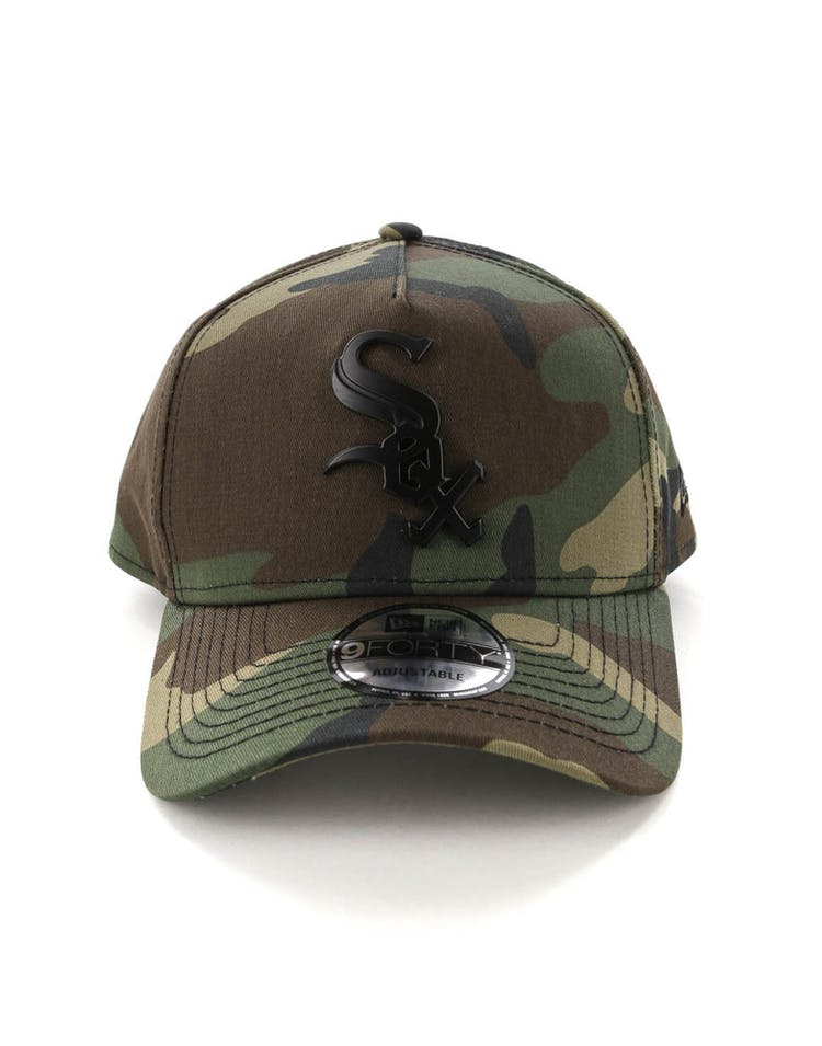 separation shoes 3ed0f ee667 New Era Chicago White Sox CK 9FORTY A-Frame Metal Badge Camo Black Metal