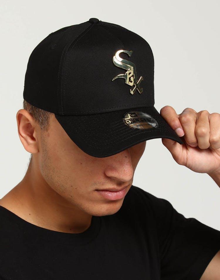 huge discount c0b39 c65df New Era Chicago White Sox CK 9FORTY A-Frame Metal Badge Black Gold Met –  Culture Kings