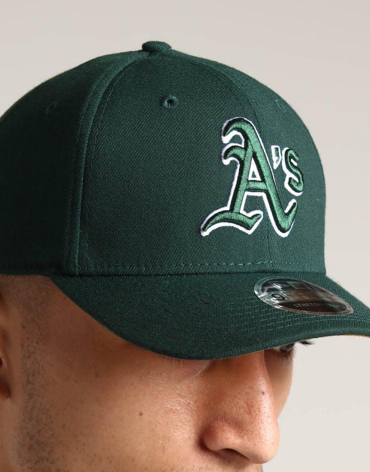 new product 75d97 cb028 New Era Oakland Athletics 9FIFTY Stretch Snapback Gold
