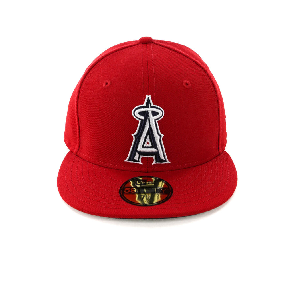 new arrival 96835 796af ... switzerland new era los angeles angels 59fifty fitted scarlet navy  e35fe de86b