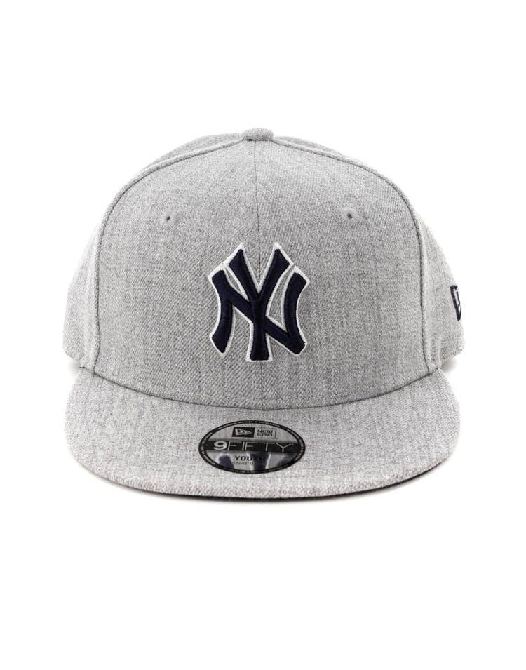 f2723ad69c30f New Era Youth New York Yankees 9FIFTY Snapback Heather Grey – Culture Kings