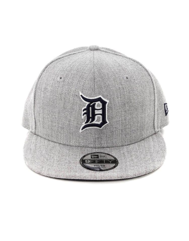 cf5d6d5d5933a1 New Era Youth Detroit Tigers 9FIFTY Snapback Heather Grey – Culture Kings