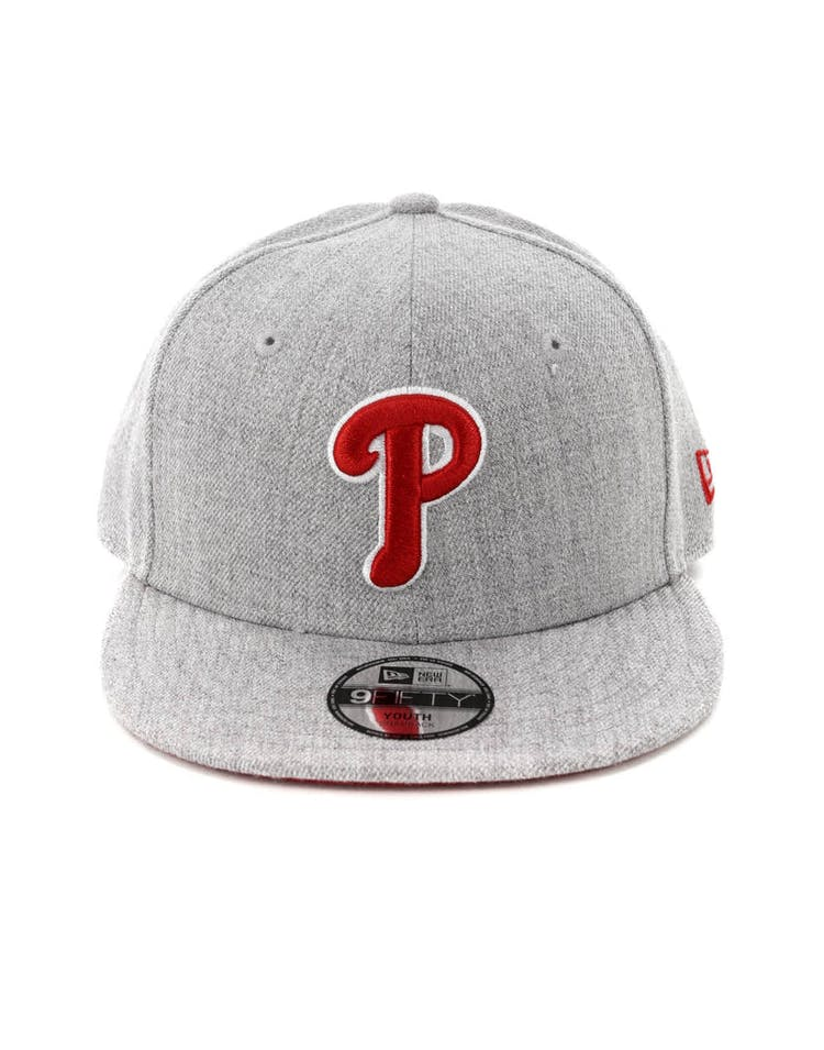 8ed2c4853c6 New Era Youth Philadelphia Phillies 9FIFTY Snapback Heather Grey – Culture  Kings