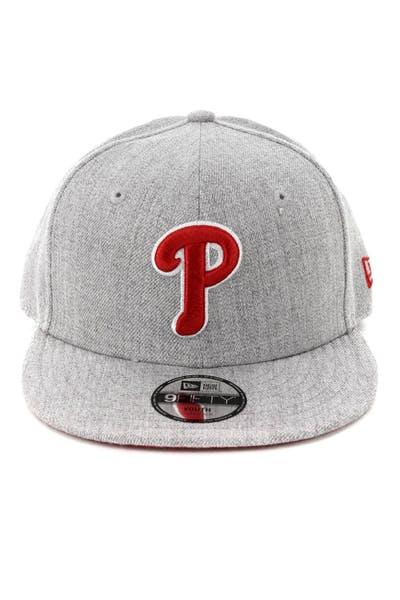 0578ccc5e8830 New Era Youth Philadelphia Phillies 9FIFTY Snapback Heather Grey