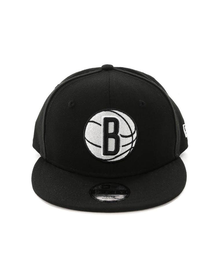 newest ce81c fc4fe New Era Youth Brooklyn Nets 9FIFTY Snapback Black