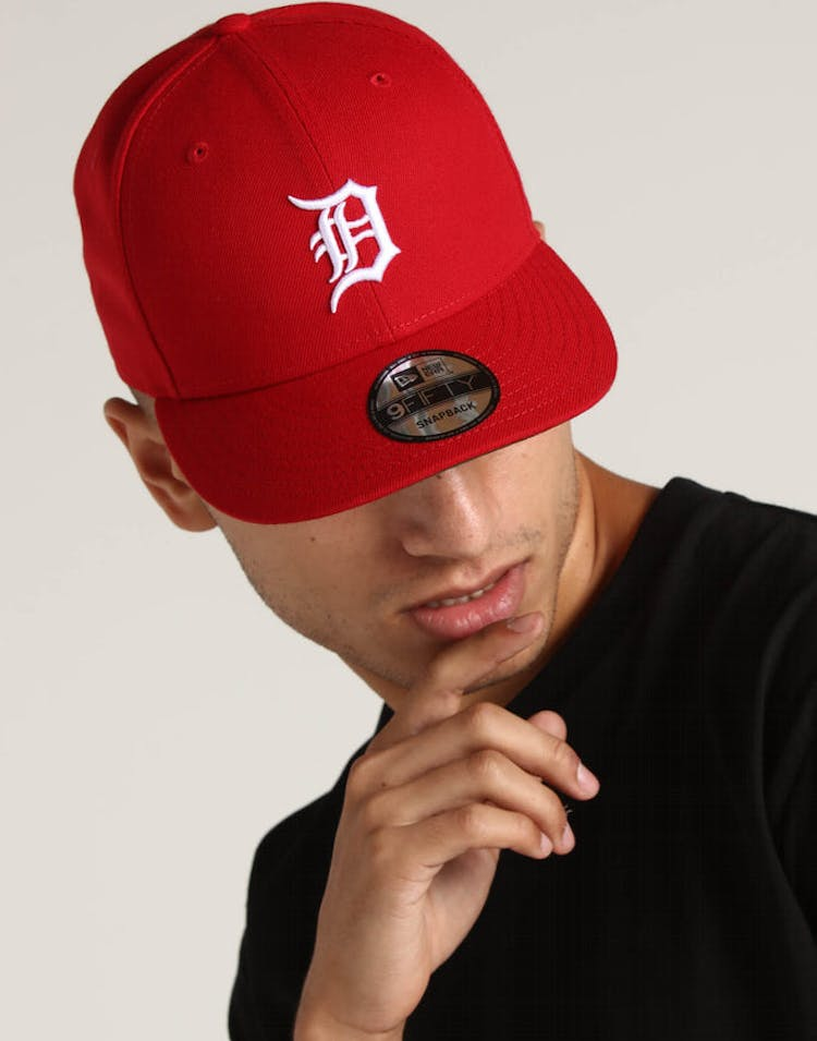 premium selection 0ef32 b5e1c New Era Detroit Tigers 9FIFTY Snapback Scarlet – Culture Kings