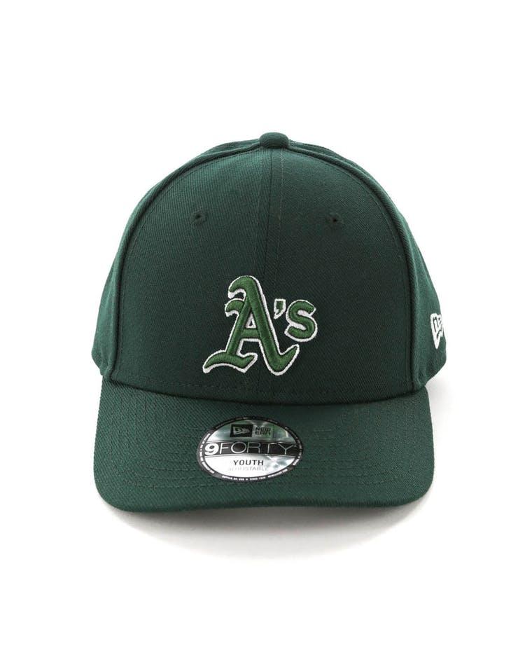 17ead80b6 New Era Youth Oakland Athletics 9FORTY HookLP Dark Green