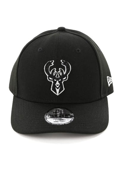 New Era Youth Milwaukee Bucks 9FORTY HookLP Black