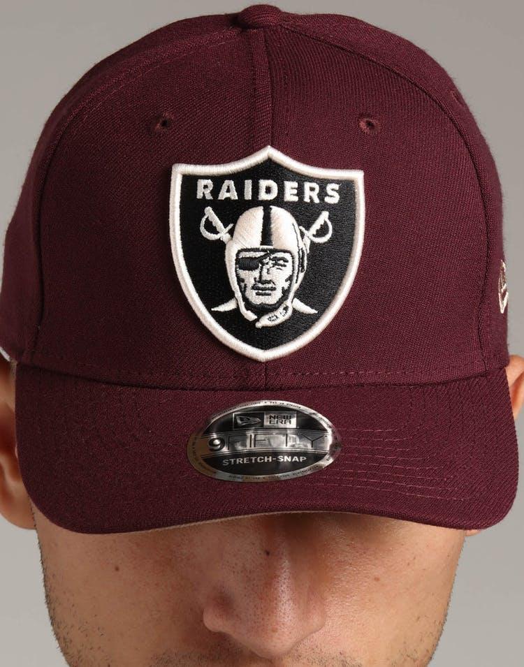 sale retailer 4d7c2 be1b5 New Era Raiders 9FIFTY Stretch Snapback Maroon