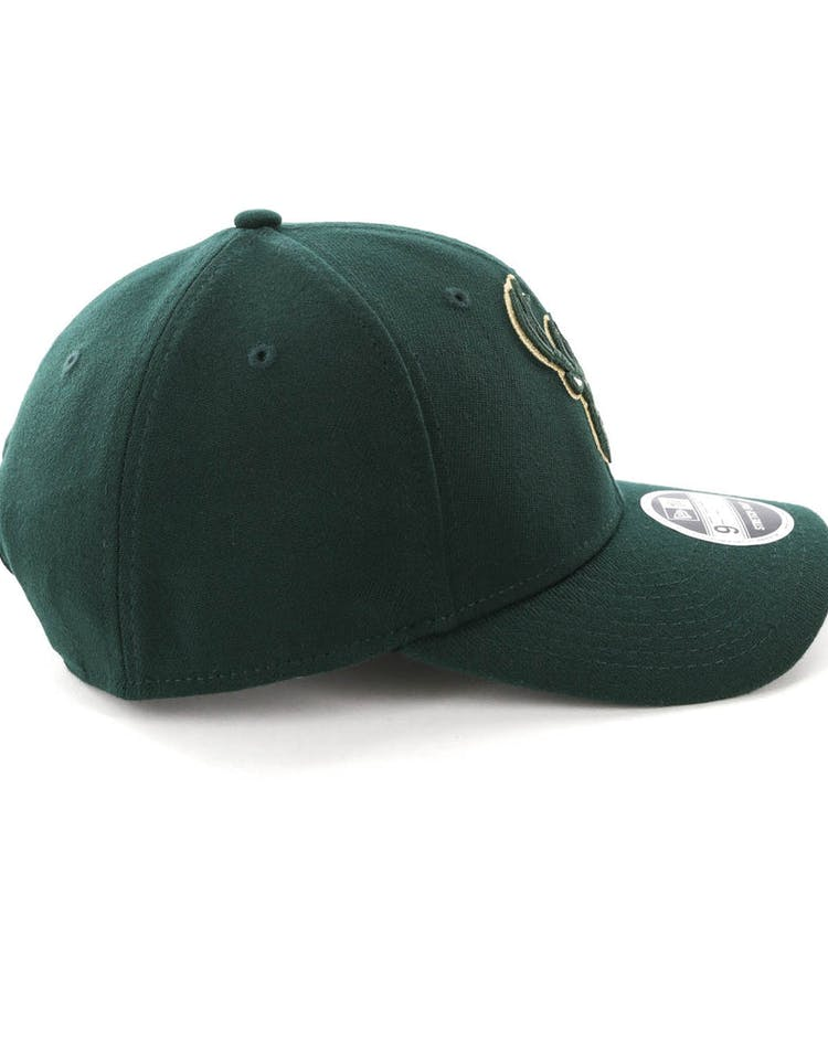 quality design 2559d fe359 New Era Milwaukee Bucks 9FIFTY Stretch Snapback OTC Dark Green