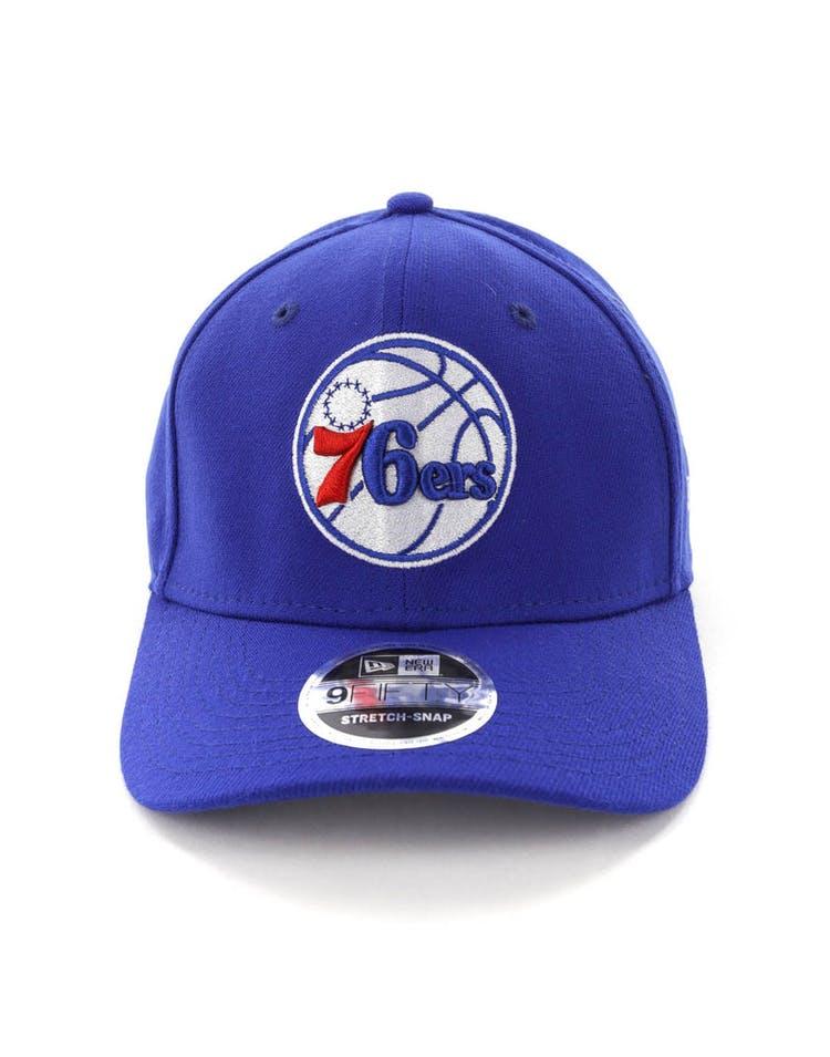 best service 4aa9f 6de52 New Era Philadelphia 76ers 9FIFTY Stretch Snapback OTC Blue – Culture Kings