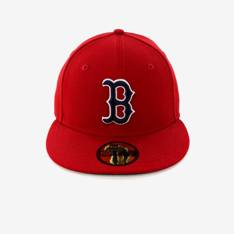 e5023b67e1cba New Era Boston Red Sox 59FIFTY Fitted Scarlet Navy – Culture Kings