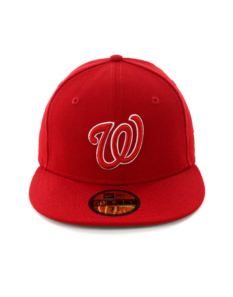 lowest price 1467e 049a6 New Era Washington Nationals 59FIFTY Fitted Scarlet Green – Culture Kings