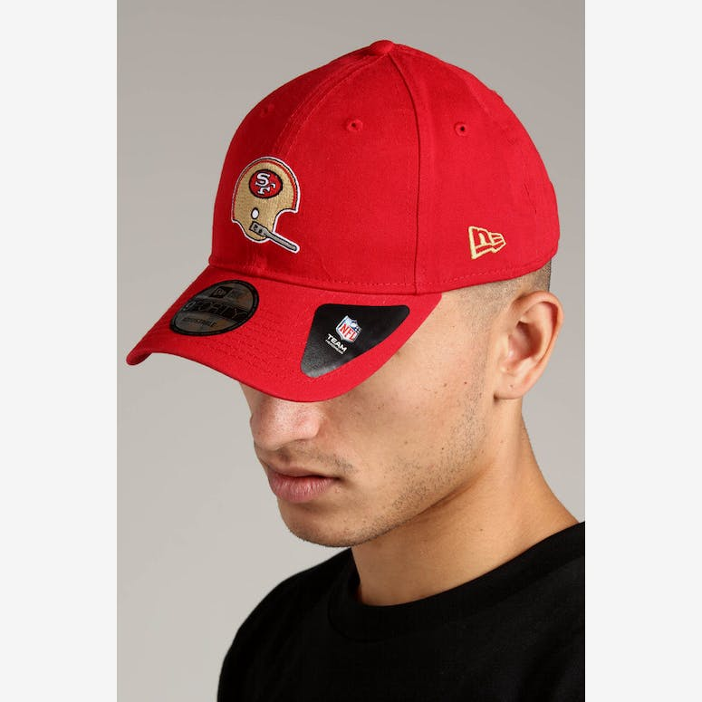 New Era San Francisco 49ers 9FORTY Cloth Strapback Helmet Scarlet – Culture  Kings 8daa3a7432f7