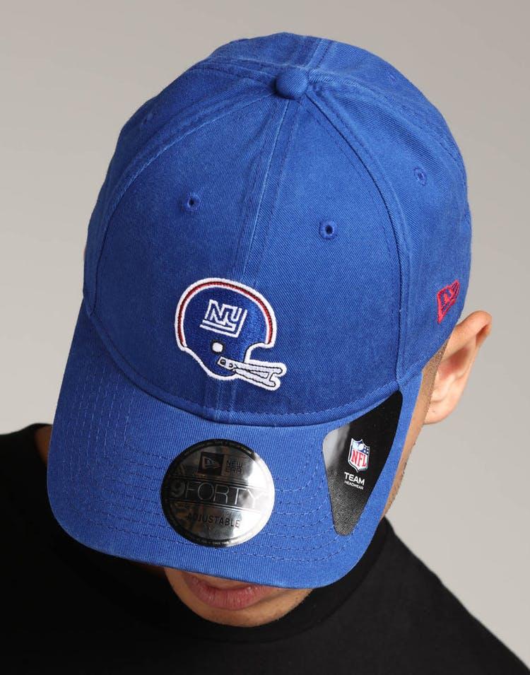 ba1822e9 New Era New York Giants 9FORTY Cloth Strapback Helmet Deep Blue