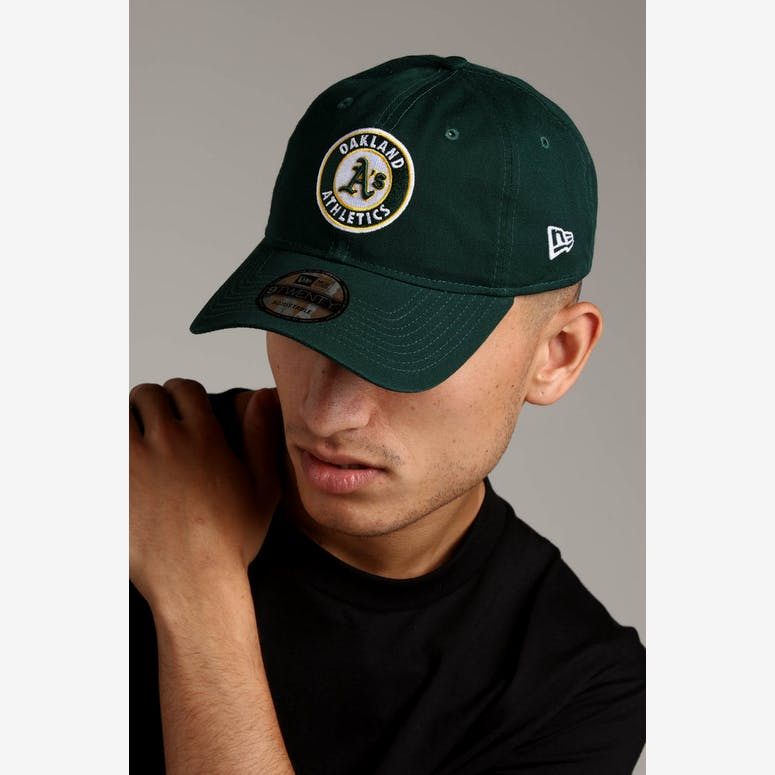 1551fed2f19 New Era Oakland Athletics 9FORTY Cloth Strapback Helmet Dark Green – Culture  Kings