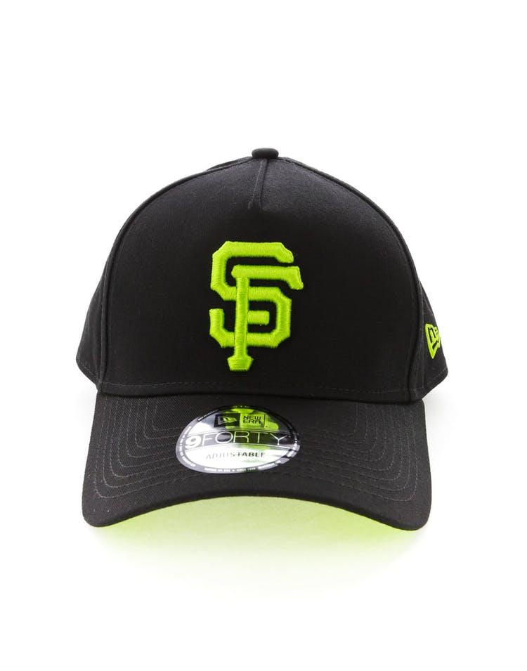 huge discount e6ae1 02aaf New Era San Francisco Giants 9FORTY A-Frame UV Snapback Black Lime –  Culture Kings