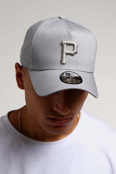 New Era Pittsburgh Pirates 9FORTY A-Frame UV Snapback Grey/Wheat