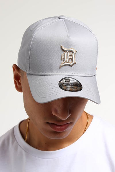 low priced eaea9 df4e8 New Era Detroit Tigers 9FORTY A-Frame UV Snapback Grey Wheat ...