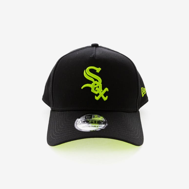 New Era Chicago White Sox 9FORTY A-Frame UV Snapback Black Lime – Culture  Kings 51bf566b9dd1
