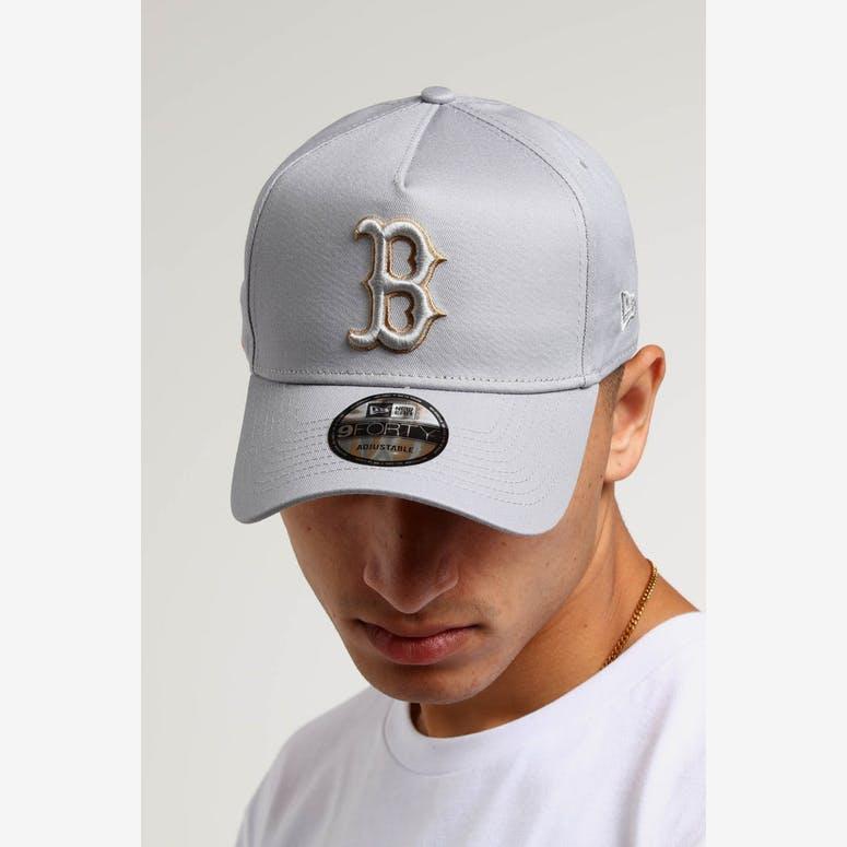 25d57eb8aa3 New Era Boston Red Sox 9FORTY A-Frame UV Snapback Grey Wheat – Culture Kings