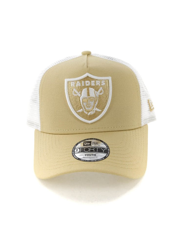 91a16bf5 New Era Youth Raiders 9FORTY A-Frame Trucker Snapback Nude/White – Culture  Kings