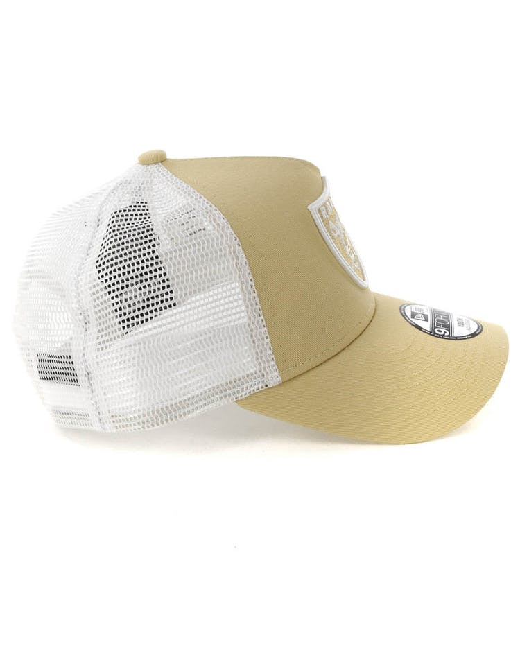 992fcff2 New Era Youth Raiders 9FORTY A-Frame Trucker Snapback Nude/White ...