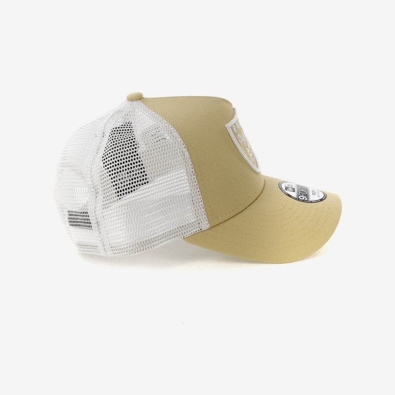 New Era Youth Raiders 9FORTY A-Frame Trucker Snapback Nude/White