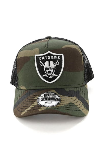 New Era Youth Raiders CK 9FORTY A-Frame Trucker Camo/Black