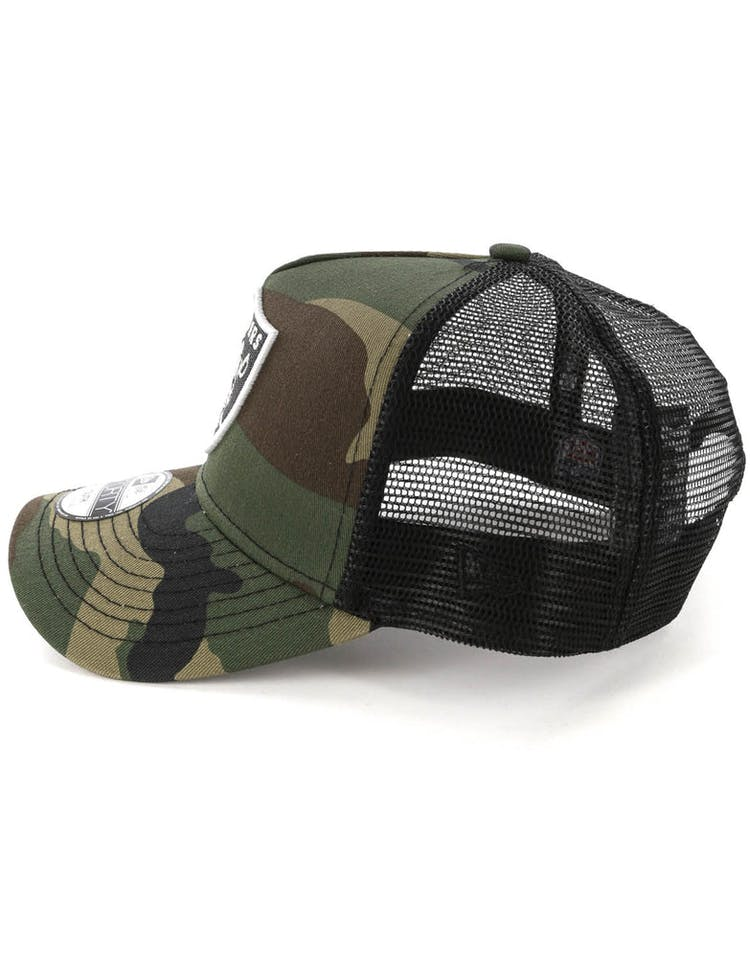 35eba053 New Era Youth Raiders CK 9FORTY A-Frame Trucker Camo/Black – Culture ...