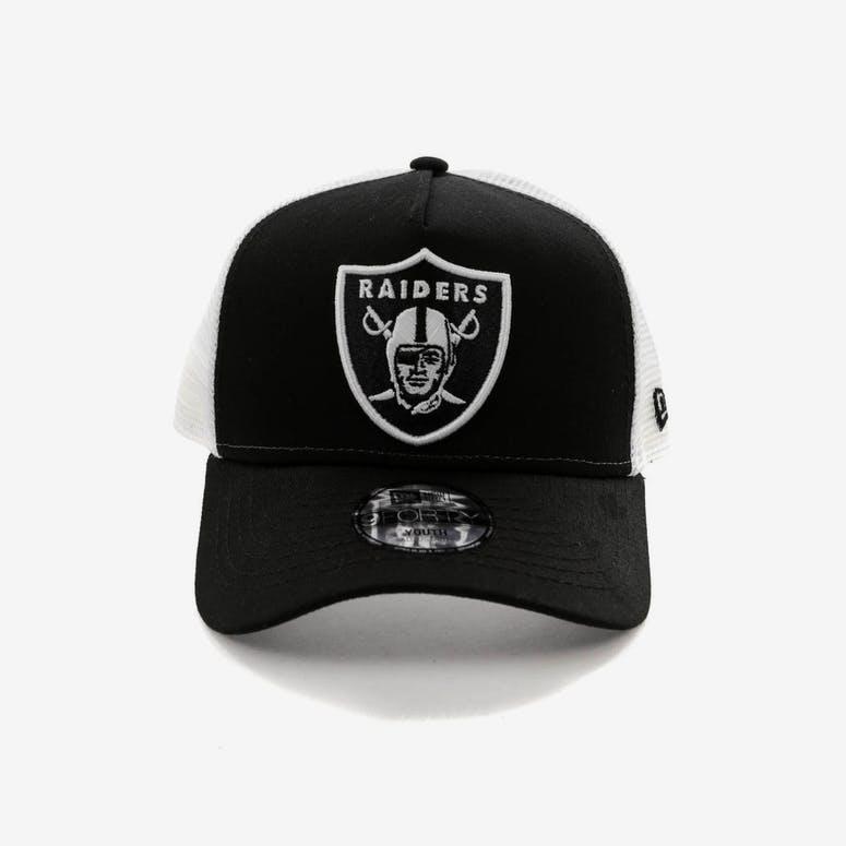 New Era Youth Raiders 9FORTY A-Frame Trucker Snapback Black White – Culture  Kings b7e7ee4ad5e8