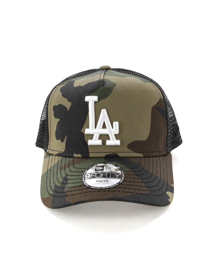 separation shoes a27c4 5d518 New Era Youth Los Angeles Dodgers CK 9FORTY A-Frame Trucker Camo Black –  Culture Kings