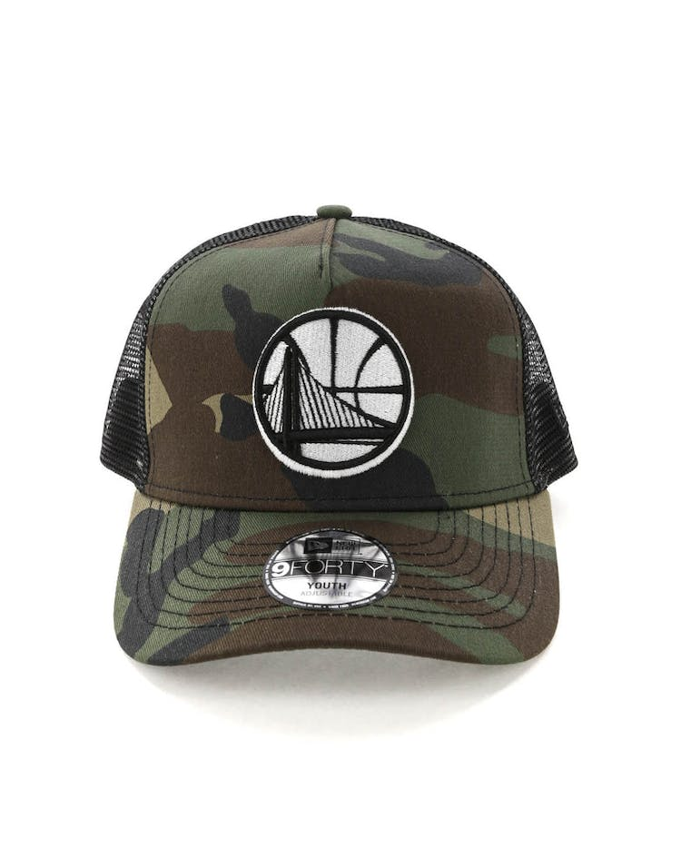 336c3e18 New Era Youth Golden State Warriors CK 9FORTY A-Frame Trucker Camo/Bla –  Culture Kings