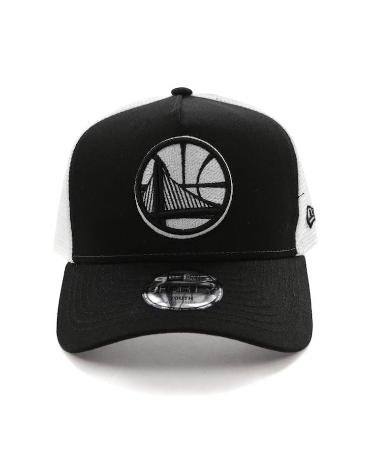the latest 85487 cad78 New Era Youth Golden State Warriors 9FORTY A-Frame Trucker Snapback Bl –  Culture Kings