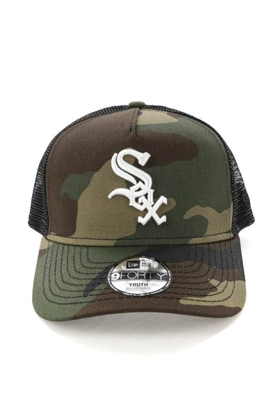 New Era Youth Chicago White Sox CK 9FORTY A-Frame Trucker Camo/Black