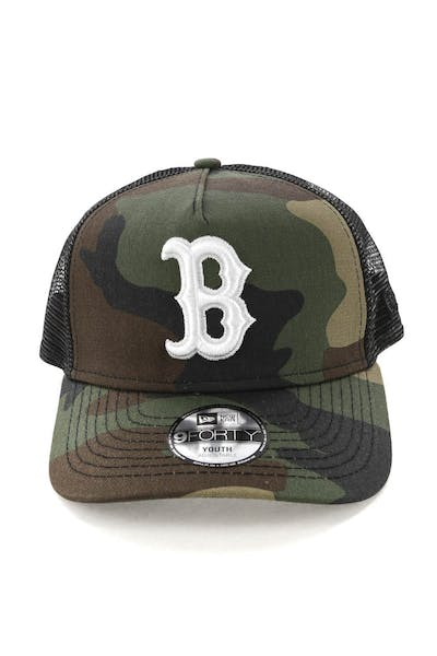 New Era Youth Boston Red Sox CK 9FORTY A-Frame Trucker Camo/Black