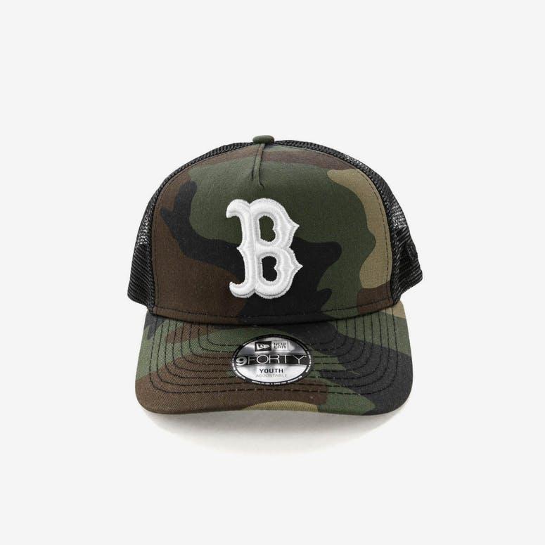 e9ecf2364de New Era Youth Boston Red Sox CK 9FORTY A-Frame Trucker Camo Black – Culture  Kings
