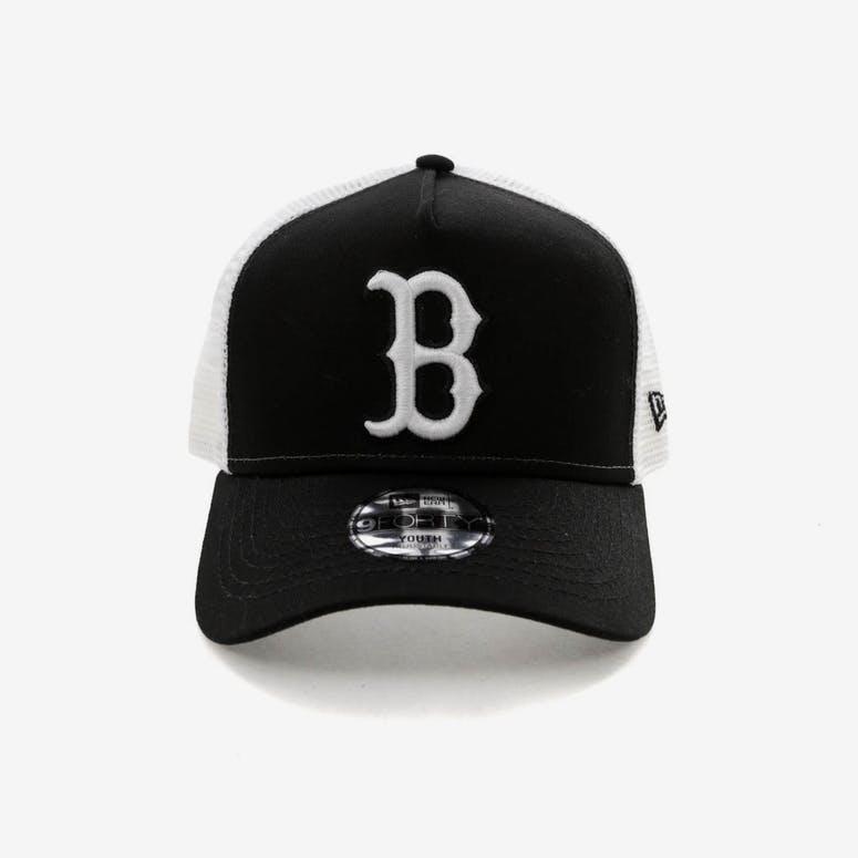New Era Youth Boston Red Sox 9FORTY A-Frame Trucker Snapback Black Whi – Culture  Kings f2ffb5b5b695