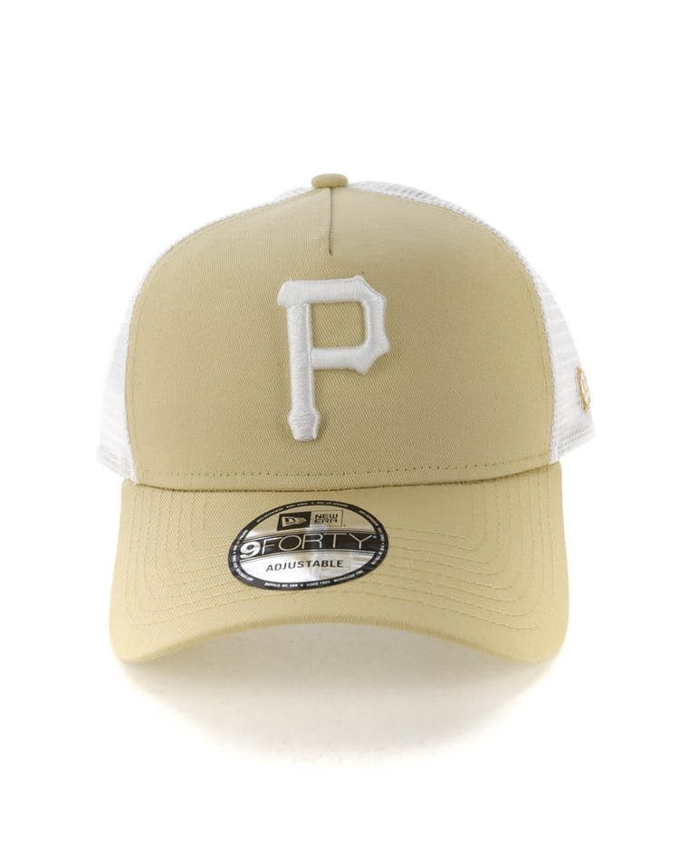 e314360a6 New Era Pittsburgh Pirates 9FORTY A-Frame Trucker Snapback Nude/White